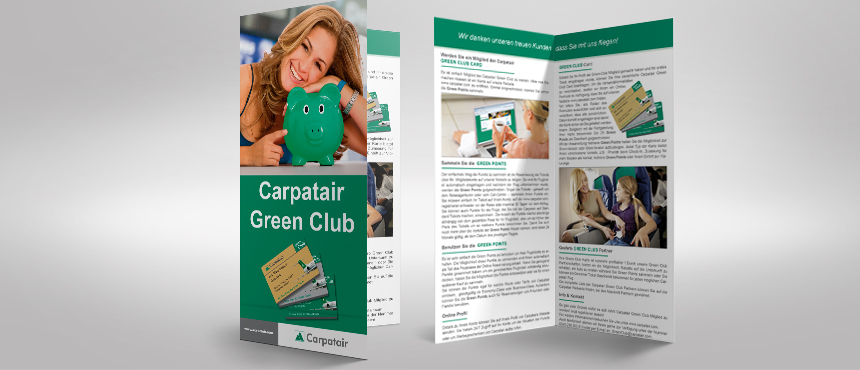 Carpatair Pliant Green Club | Miraculics Media